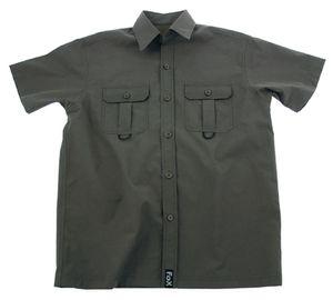 Outdoor Hemd, kurzarm, oliv, Microfaser, 2 Brusttaschen, Größe L