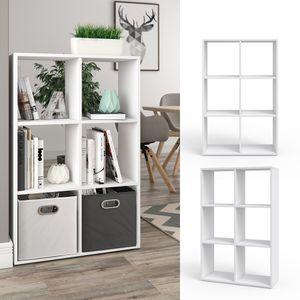 Vicco Raumteiler 6 Fächer Weiß Regal Bücherregal Standregal Hochregal Wandregal