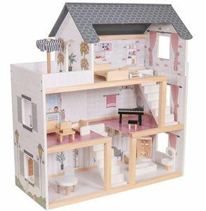 Coemo Puppenhaus Lara Villa möbliert 3 Etagen