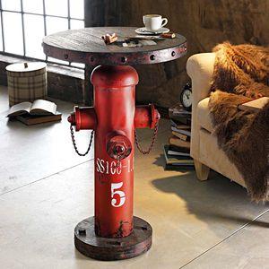 Beistelltisch 'Fireplug' rotbraun Bistrotisch Stehtisch Bartisch Wohnzimmertisch