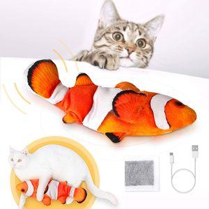 Katzenspielzeug, realistisches elektrisches Fisch-Katzenminzenspielzeug, interaktives Katzenplüschtier - Kätzchen-Kätzchen-Kickerspielzeug