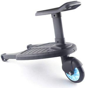 Kinderhilfspedal Buggyboard Trittbrett Kinder für Kinderwagen Ab 15 Monate (Max 25Kg) Blau