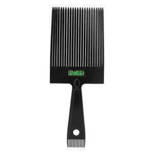 Doppelkamm Haar Kamm Barber Clipper Flat Top Styling Kamm mit genauem Wasserniveausystem Hairdressing Tool Wide,Farbe Beige