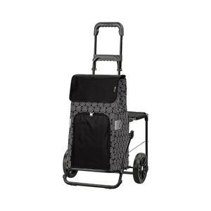 Andersen Shopper Komfort mit Sitz und 45 Liter Tasche Henni schwarz