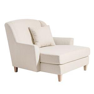 Max Winzer Judith Big-Sessel inkl. 1x Zierkissen 55x55cm - Farbe: creme - Maße: 136 cm x 142 cm x 107 cm; 2891-767-1645215-F01