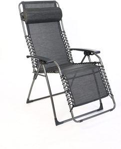 Sungörl Oasi Relaxsessel Amazing - Gestell aus Stahl, ergonomische Liegeposition, zusammenklappbar, mit Kopfpolster
