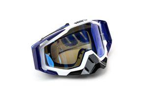 Cross Brille - Racecraft Extra - mit 20 Abreißfolien von 100% - Anti-Fog - verspiegeltes Glas - Cobalt Blue - Uni Größe
