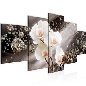 Blumen Orchidee BILD :200x100 cm − FOTOGRAFIE AUF VLIES LEINWANDBILD XXL DEKORATION WANDBILDER MODERN KUNSTDRUCK MEHRTEILIG 200951a