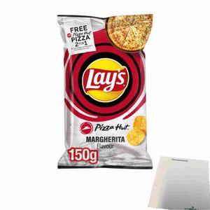 Lays Pizza Hut Margherita Flavour Kartoffelchips (150g Beutel) + usy Block