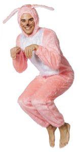 L3300055-48 hell-rosa Herren Hase Hasen-Overall Hasen-Kostüm Plüsch Gr.48