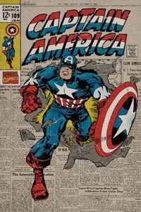 Captain America Poster Marvel Comics