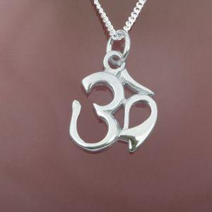 Anhänger Om Silber 925 Amulett Aum Mantra