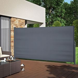 ALU Seitenmarkise Sichtschutz 180x350cm Sonnenschutz Seitenrollo Markise 280g/m²
