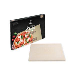 Moesta Pizzastein No. 1 - 45 x 35 cm eckig Flammkuchen Brot Backen