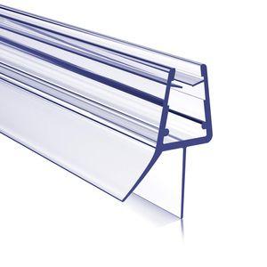 Meykoers Duschdichtung 80cm Duschtür Dichtung, Glasstärke 4-6 mm, Gerade PVC Ersatzdichtung mit Wasserabweiser für Dusche