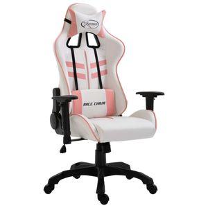 Bürostuhl Drehstuhl Schreibtischstuhl Gaming-Stuhl Rosa Kunstleder