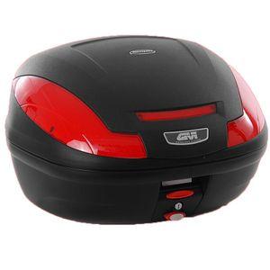 GiVi E470 Simply III - Monolock Topcase mit Platte und COVER schwarz matt / Max Zuladung 3 kg