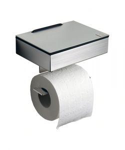 Toilettenpapierhalter und Feuchttücherbox  - Kombination aus mattem Edelstahl