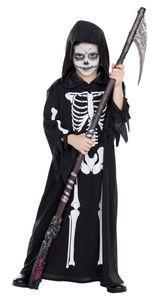 Kinder Kostüm Skelett Totengräber Henker Karneval Halloween Gr.128