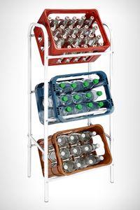Kastenständer für 3 Kisten - Farbe: weiß