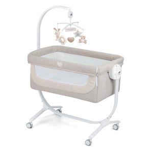 CAM 2 in 1 Beistellbett & Babywiege CULLAMI | Neue 2020 Kollektion | praktisch & schön | Babybett 8 Höhenpostionen | hochwertige Materialien -  Italy (Dolce Coccole, beige)