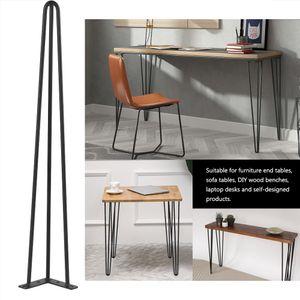 4× Hairpin Legs Tischbein Haarnadelbeine Tischkufen Tischgestell Haarnadelbeine Esstisch 76cm Stützfuß Metall