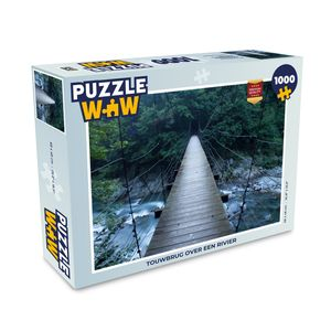 Puzzle 1000 Teile - Seilbrücke über einen Fluss