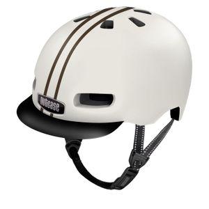 Nutcase Gloss Street Helm Leather Bound Stripe, S/52-56cm MIPS
