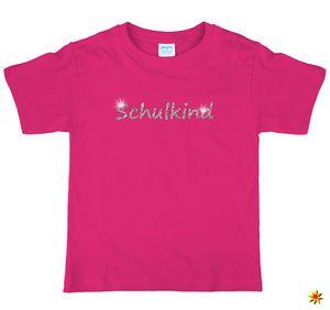 Kinder T-Shirt Schulanfang Schulkind mit Glitzer, Größe:134/140
