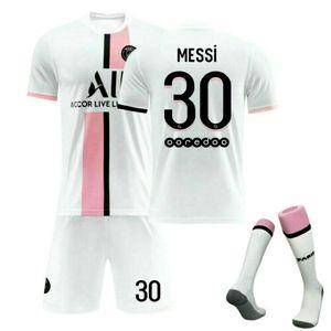 21/22 Paris Saint-Germain Auswärt Trikot MESSI #30 Sportbekleidung-Sets, Größe: S