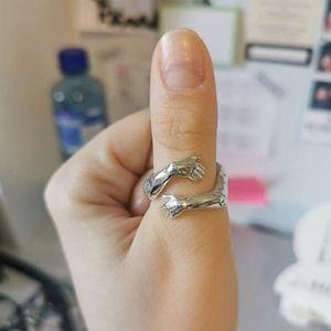925 Sterling Silber Ring Damenkleid M?dchen Silber Paar Liebe Open Ring Schmuck