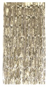 Türvorhang Lametta 250x100cm, Farbauswahl:champagner / matt