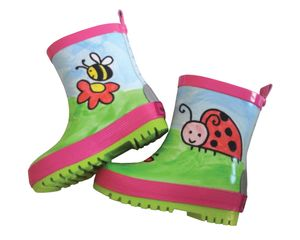 MaxiMo Kinder Gummistiefel Käfer 03203-931700 pink rose / grün, Farben:pink, Kinder Größen:23