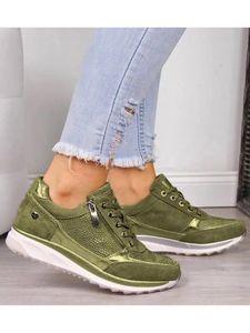 Damen Damenschuhe Mit Weicher Sohle, Modische Freizeitschuhe Schnürschuhe Mit Niedrigem Oberteil,Farbe: Grün,Größe:38