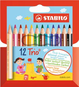 Happy Kidz Farbstifte Trio 12er Etui 21404156060