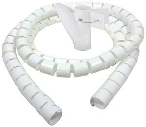 Bambelaa! Kabelschlauch 3m Kabelkanal kürzbar Kunststoff flexible Kabelorganisation 20mm Durchmesser