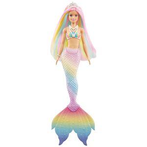 Barbie Dreamtopia Regenbogenzauber Meerjungfrau Puppe mit Farbwechsel