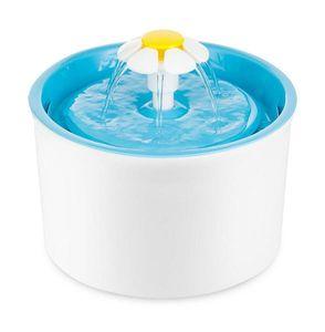 PETGARD Trinkbrunnen Little Flower für Tiere weiß-blau 1,6 Liter