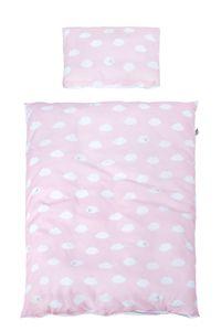 roba Bettwäsche 2-tlg, Kollektion 'Kleine Wolke rosa', Kinderbettwäsche 100x135 cm