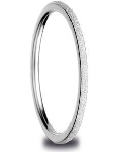 Bering Innenring ultraschmal Edelstahl Sparkling-Effect silber 561-19-X0, Bering Größe:9