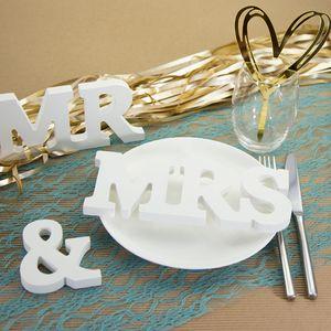 Oblique Unique Mr & Mrs Deko Buchstaben Holzbuchstaben Hochzeit Dekoration - Holz