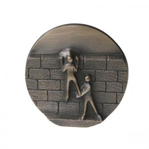 Wandrelief Mauern überwinden, Impulse 8 cm Bronze