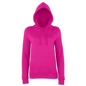 AWDis Just Hoods Damen Kapuzenpullover / Hoodie RW3481 (XL) (Dunkles Pink)