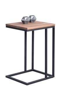 Beistelltisch Tisch FAGO 38x43 cm Eiche massiv braun gebeizt