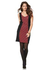 Vivance Collection Etuikleid, schwarz-rot Kleider Größe: 36