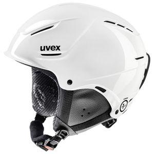 Uvex p1us junior - Skihelm, Size:52-54, Color:white
