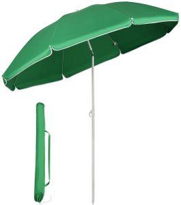 Sonnenschirm balkon | balkon sonnenschirme | Rund Strandschirm 160 cm, UV 20+,Grün,Einfacher Auf- und Abbau
