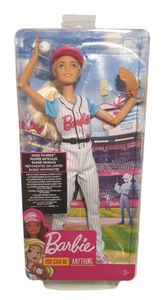 Barbie Karriere-Puppe, Baseballspielerin, Made-to-move Puppe FRL98