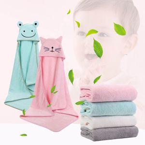 Kapuzenhandtuch Baby Handtuch Kapuze Badetuch mit niedlichen Ohren für Babybaden Babyhandtuch mit Kapuze Kapuzenbadetuch Grün 90 X 90cm