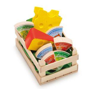 "Erzi 28236 Sortiment ""Käse in Kiste"" Holz für Kaufmannsladen"